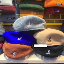 Homens da boina coreana on-line-Bordados Cap Kangol Hat Inverno Beret Mulheres Homens Berret Coreano Francês Newsboy Caps Senhoras lã bonito Hip Hop Vintage Harajuku Outdoor Beanie