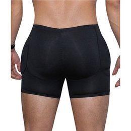 dbaaf955591 Men s Padded Butt Lifted Enhancer Body Shapers Boxer High Waist Slimming  Tummy Control Shorts Solid Black 2 Styles Size S-3XL