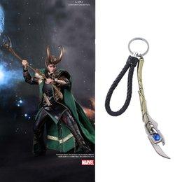 Supereroi metallici giocattoli online-The Shield Loki Portachiavi Toy Superhero Hulk Iron Man Marvel gioielli ciondolo in metallo portachiavi