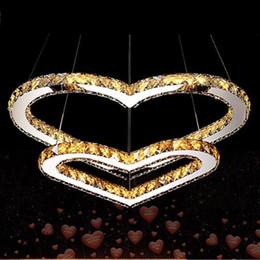 lumière de la pièce en forme de coeur Promotion Chaude Moderne Lustre LED Lustre En Cristal luminaria Lampe En Cristal En Forme De Coeur lustre éclairage Chambre Chambre Salon Lampe