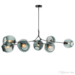Modern Glass Nordic Light Ciondolo pranzo Cucina light designer Sospese Avize Luster Illuminazione da
