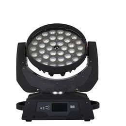 lumières de club têtes mobiles Promotion Nouveau design zoom wash led tête mobile 4in1 RGBW 36 * 10W LED lumière principale mobile pour Club Disc