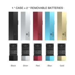 E max cig batterien online-100% authentisches Suorin Edge Case mit 2 Batterien 230mAh Fit Suorin Edge Pod Max. 10W Leistung Herausnehmbarer Akku Design E cig Pod