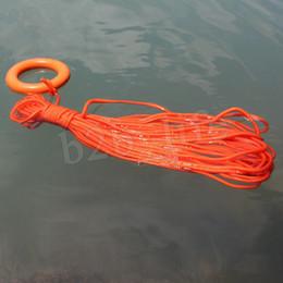Rettungsarmbänder online-Tragbares Wasser-Rettungsseil 30 Meter ein Bündel Wasserrettungsseil Schwimmleine mit einem schwimmenden Armband Ring MMA2015