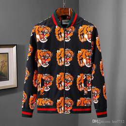 Deutschland Italienische Marke Design G Jacke Tiger Kopf Druck Fliegerjacke Herren Herbst und Winter Reißverschluss Windjacke lässig Sportanzug Hip Hop c cheap italian winter jacket brands Versorgung