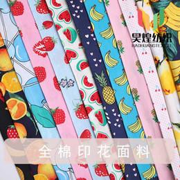 tecido de impressão de frutas Desconto 2 m / lote Têxtil Popeline Algodão Impresso Tecido Frutas Crianças Vestido de Camisa Primavera e Verão Acessórios de Costura Alfaiate