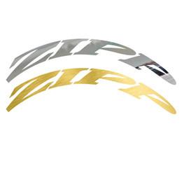 etiquetas da roda de carbono da bicicleta da estrada Desconto Duas Rodas Conjunto de Adesivos para ZIP Road Bike Engrenagem Fixa de Carbono Roda Raça Ciclismo Bicicleta Decalques Espelho de Ouro / Cor Prata # 292923