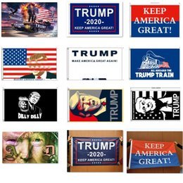 2019 konfetti silber großhandel Trump 2020 Flagge Donald Trump Flagge Amercia Flags Persönlichkeit Decortive Banner Flagge Tank Festliche Party Supplies AN1925