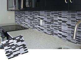 Mozaik Kendinden Yapışkanlı Kiremit Backsplash Duvar Sticker Vinil Banyo Mutfak Ev Dekor için DIY Duvar Çıkartmaları nereden büyük hayvan duvar çıkartmaları tedarikçiler