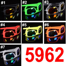 sonne platzte Rabatt Klassische Reitspiegel-Sonnenbrille für Damen und Herren 5962 Burst-Modelle Brille Sonnenbrille 7 Farben Dazzle-Farbbrille