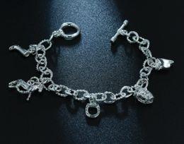 Personifizieren silberne armbänder online-Hufeisen Armband Mode exquisite Charms Armbänder Anhänger Frauen einfache Modelle personalisierte Geburtstagsgeschenk Farbe Silber Armbänder