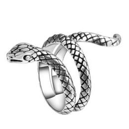 Nueva Llegada Anillo de Joyería de Dientes Forma de Serpiente Anillos de Estilo de Moda de Aleación de Zinc Estereoscópica para Mujeres Hombre Regalo de Fiesta Joyería de Moda desde fabricantes