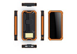 Carregador de telefone celular solar para samsung on-line-20000mAh banco de energia solar emergência painel de energia solar carregador de bateria externa para iphone samsung telefones celulares ao ar livre