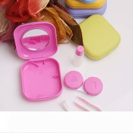 Bicycle Sport Illustration Yellow Pattern Contact Lens Case Bulk Tweezers Container Holder