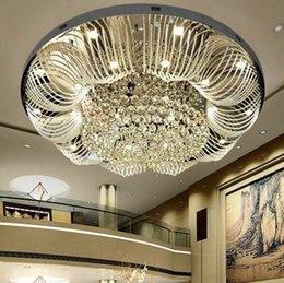Canada moderne grand lustre en cristal éclairage AC110V 220V luxe salon lumières wideth 100 cm Livraison gratuite LLFA cheap living room light free shipping Offre
