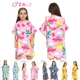 Robes Cotton Children Bathrobe Robes Bath Towel Cute Baby Girls Boys Cartoon Sleepwear Swimming Beach Towel