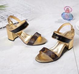 Canada Nouvelle mode femmes chunky talons sandales cuir de vachette cuir dames sexy chaussures à talons hauts bonne qualité femme Peep Toe sandales L3915 Offre