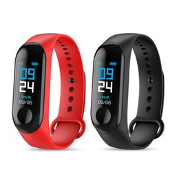 blue female watches Coupons - M3 Smart Band Bracelet Heart Rate Watch Activity Fitness Tracker pulseira Relógios reloj inteligente PK fitbit XIAOMI apple watch