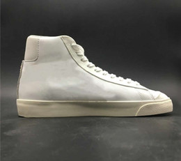 Homem de boxe slam on-line-Top Quality slam Jam Blazer Mid Classe 1977 Vintage Man Branco Preto skate do desenhista Shoes Navio Com Box Size40-46