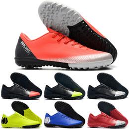 Neue Original Kinder Herren Fußball Schuhe Mercurial VaporXII Pro TF IC Fußballschuhe Frauen Jungen Indoor Turf VaporX Fußballschuh Größe 35 46