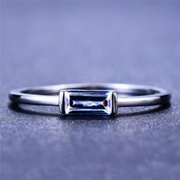 2020 anel de prata pedras pequenas Fêmea bonito pequeno cristal de pedra Anel 100% real 925 Sterling Silver Ring Finger Boho Promessa de amor anéis de noivado para as mulheres anel de prata pedras pequenas barato