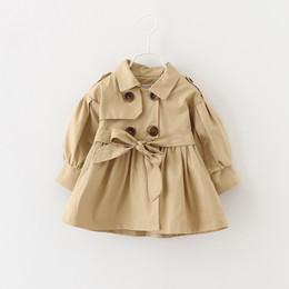 Argentina Abrigos y chaquetas para bebé Niña Abrigo de bebé Conjunto Ropa formal Abrigos largos para niñas 18-24 meses Para el otoño de primavera Color caqui Rosa supplier 18 month jacket Suministro