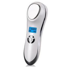 2019 melhor tatuagem rotativa New Portable Ultrasonic Hot Frio Terapia Sônica Vibração Essência Facial Íon Introdução Beleza Instrumento Rosto Rejuvenescer