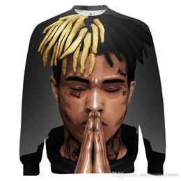 Canada Rappeur américain Mens R.I.P. Sweat-shirts à capuche XXXTentacion - Sweat-shirts à col en V et à impression 3D - Hauts à manches longues cheap mens v neck hoodie Offre