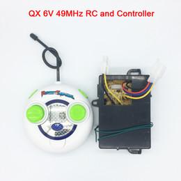 Receptor teledirigido del coche del rc online-Coche eléctrico para niños QX 49MHz RC y controlador 6v, control remoto y receptor de coche eléctrico para bebés