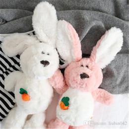 Easter coelhos plush rosa on-line-20170610 Ins Hotsale Pequeno Pouco Bonito Branco Ou Rosa Lindo Coelho Brinquedo De Pelúcia Para As Crianças Do Bebê de Presente de Natal de Páscoa