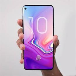 2019 telefone tri sim 3000 mAh 6.3 polegadas Goophone S10 além de Desbloqueio de Impressão Digital Iris MT6580T 3G 1900 mostrar Falso 4G LTE 64 GB telefone inteligente Livre DHL