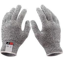 Cuchillo de dedo cortado online-Guantes resistentes al corte cuchillo anti-corte guantes Protección de las manos Finger Food Grade nivel 5 Protección contra cortes guante de seguridad guante de la cocina GGA2722