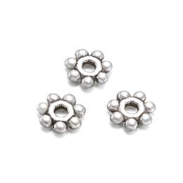 2019 jóias descobertas Pandahall 500 pcs 4 ~ 4.5x1.5mm Liga Antiga Jóias Spacer Beads Jóias Fazendo Descobertas DIY Acessórios Componente Floco De Neve jóias descobertas barato