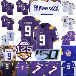 LSU Tigers Football Jersey College di Joe Burrow Nickname Burreaux Odell Beckham Jr. Delpit Tyrann Mathieu Fournette Peterson Cannon Chase da