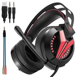 headsets für playstation Rabatt ONIKUMA M180 PS4 Headsets Gaming-Headset für PC Gamer Playstation 4 Laptop-Computer Gaming-Kopfhörer mit Mikrofon Mic LED