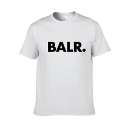 2019 nueva marca de verano BALR ropa O-cuello juventud hombre camiseta impresión Hip Hop camiseta 100% algodón moda hombre camisetas desde fabricantes