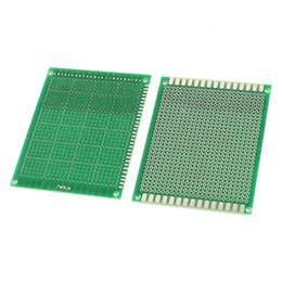 Diy circuiti online-Fibra di vetro 1.6mm 2.54mm del circuito stampato del PWB di singola dimensione del prototipo DIY della carta di singola dimensione