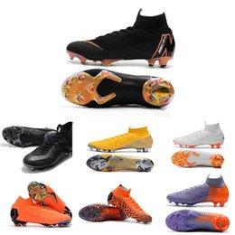 2019 botas de futebol de tamanho 12 Mercurial Superfly VI 360 XII 12 CR7 Ronaldo Neymar Dos Homens Das Mulheres Meninos Sapatos de Futebol de Alta 20ª Botas de Futebol Chuteiras Tamanho 35-45 v04 desconto botas de futebol de tamanho 12