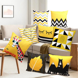 Shop Decor Pillow Case Black White UK