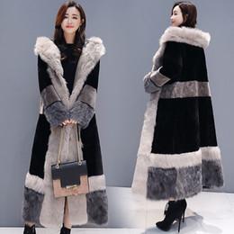 veste da pele do falso transporte livre Desconto Casaco de Inverno Casuais Mulheres 2019 Moda Jaqueta de Manga Longa Casaco Quente Solto Grosso Alongar Faux Fur Outerwear Plus Size Feminino