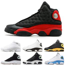 Canada Nike air jordan 13 13s Freeshipping 13 13s Hommes Chaussures de Basketball Italie Bleu classe melo de 2003 Pure Money Black Cat élevé Flint baskets taille 7-13 cheap class arts Offre