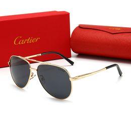gafas de sol jawbreaker Rebajas Gafas de moda CartierLentes de sol gafas de sol de lujo para mujer para hombre de la playa de los vidrios UV400 polarizado 2106 de alta calidad con la caja