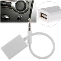 2019 kabelheber usb mp3 SZAICHGSI 3,5-mm-Stecker AUX Audio Stecker Jack zu USB 2.0 Buchse Konverter Kabel Weiß für Auto MP3 günstig kabelheber usb mp3