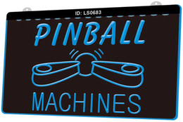 Flipper online-LS0683 Pinball Machines Bar Nuovo EngravCustomize 3D on Demand colore multiplo