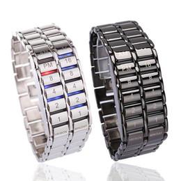 2020 relógio binário de quartzo Presente Criativo Moda Dia recém-Men Binary LED Digital de pulso de quartzo do Pai relógio binário de quartzo barato