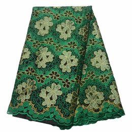 Tela tulle verde de tissu africano con cuentas de encaje nigeriano última tela de encaje africano 2018 de alta calidad tela de encaje francés desde fabricantes