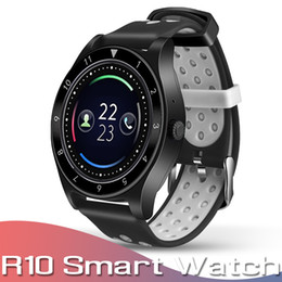 sms camera control Promo Codes - R10 Smart Watch Bluetooth Smartwatch Support SIM Card Camera Pedometer Fitness Tracker Android Smart Watches SMS Reminder with Retail Box