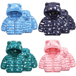 osos chaquetas para niños Rebajas Oso de dibujos animados los niños de Navidad de Down Coats sudaderas de algodón de la cremallera Nueva Tecnología presionar los muchachos del niño de las muchachas del diseñador del invierno chaqueta de la capa de nieve 6M-5T 04