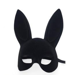 Alta qualità da donna Halloween Floccaggio Maschera di coniglio mascherata Orecchie Fascia per capelli Accessorio per Festa di compleanno Pasqua Halloween 2 Colore Seleziona da costumi completi d'anatra fornitori