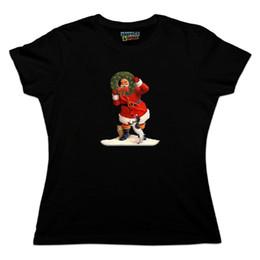 Рождественский праздник Санта-Клаус с собакой кошка венок женская новинка футболка мужчины женщины мужская мода футболка Бесплатная доставка черный от